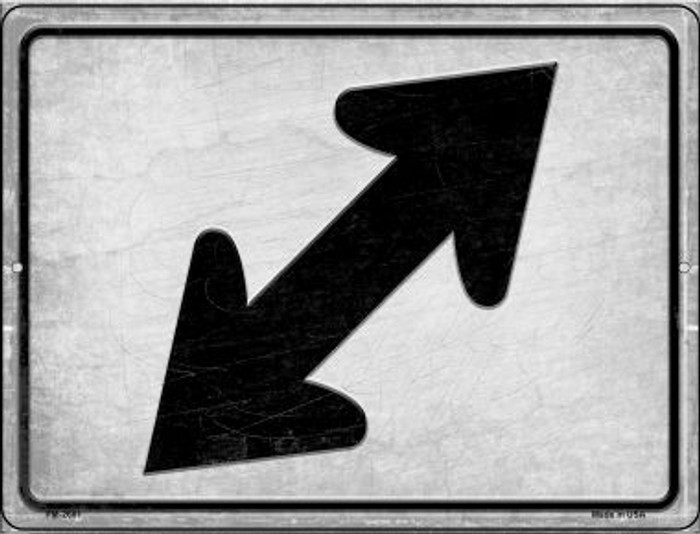 Diagonal Right and Left Wholesale Novelty Mini Metal Parking Sign PM-2681