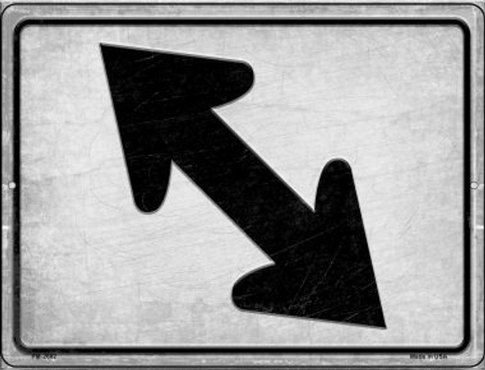 Diagonal Left and Right Wholesale Novelty Mini Metal Parking Sign PM-2682
