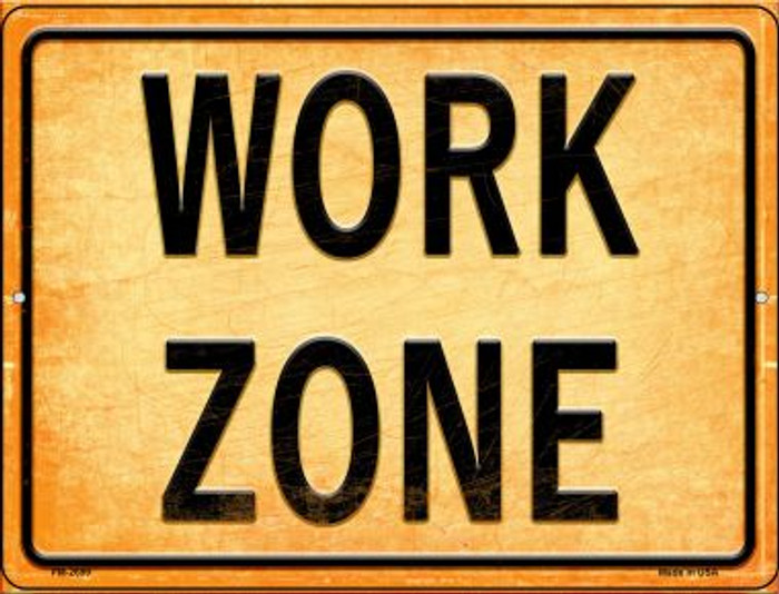 Work Zone Wholesale Novelty Mini Metal Parking Sign PM-2699