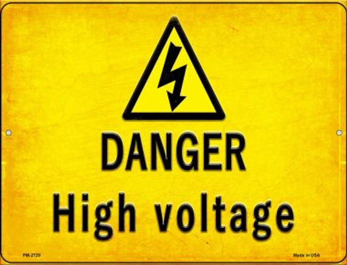 Danger High Voltage Wholesale Novelty Mini Metal Parking Sign PM-2729