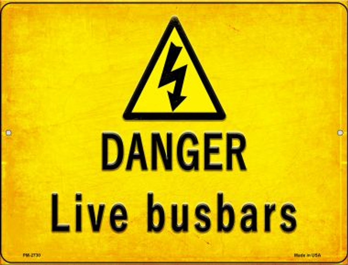 Danger Live Busbars Wholesale Novelty Mini Metal Parking Sign PM-2730