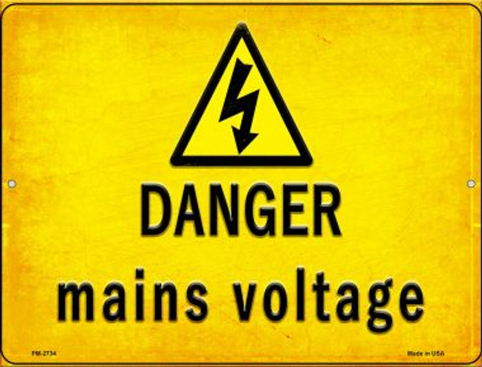Danger Mains Voltage Wholesale Novelty Mini Metal Parking Sign PM-2734