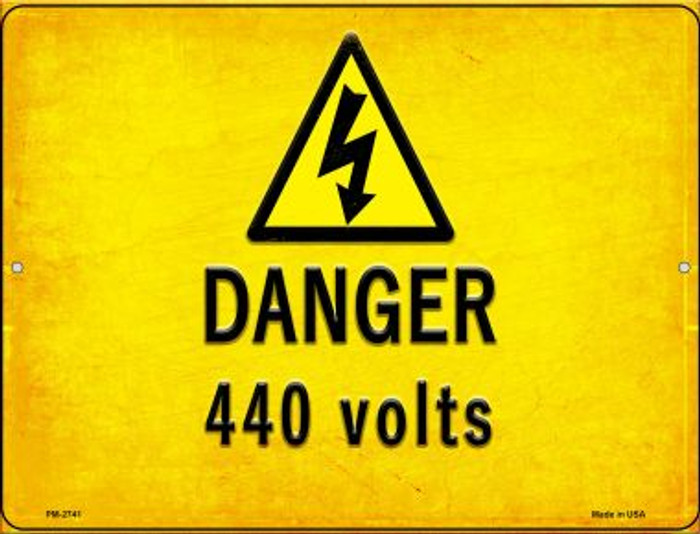 Danger 440 Volts Wholesale Novelty Mini Metal Parking Sign PM-2741