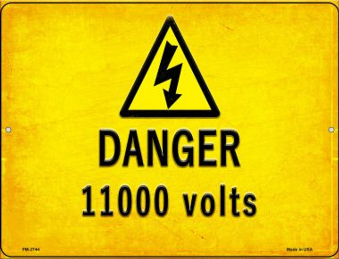 Danger 11000 Volts Wholesale Novelty Mini Metal Parking Sign PM-2744