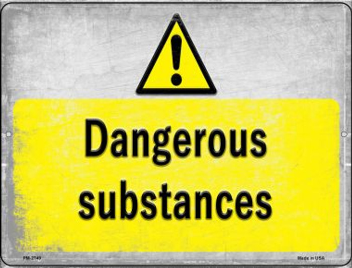 Dangerous Substances Wholesale Novelty Mini Metal Parking Sign PM-2749