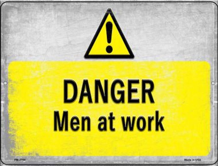 Danger Men at Work Wholesale Novelty Mini Metal Parking Sign PM-2754