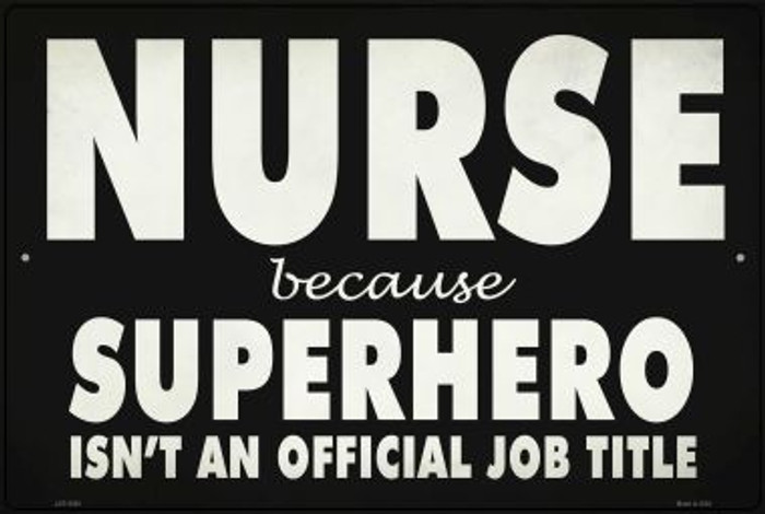 Nurse Official Job Title Wholesale Novelty Metal Large Parking Sign LGP-2850
