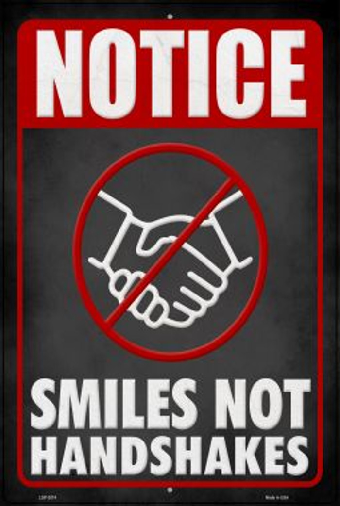 Smiles Not Shakes Wholesale Novelty Metal Large Parking Sign LGP-2874