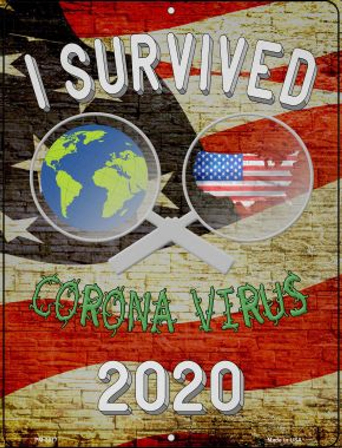 I Survived 2020 Wholesale Novelty Metal Mini Parking Sign PM-2877