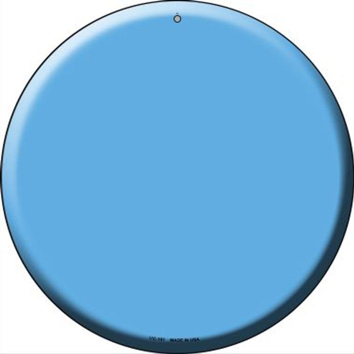 Light Blue Wholesale Novelty Small Metal Circular Sign UC-161