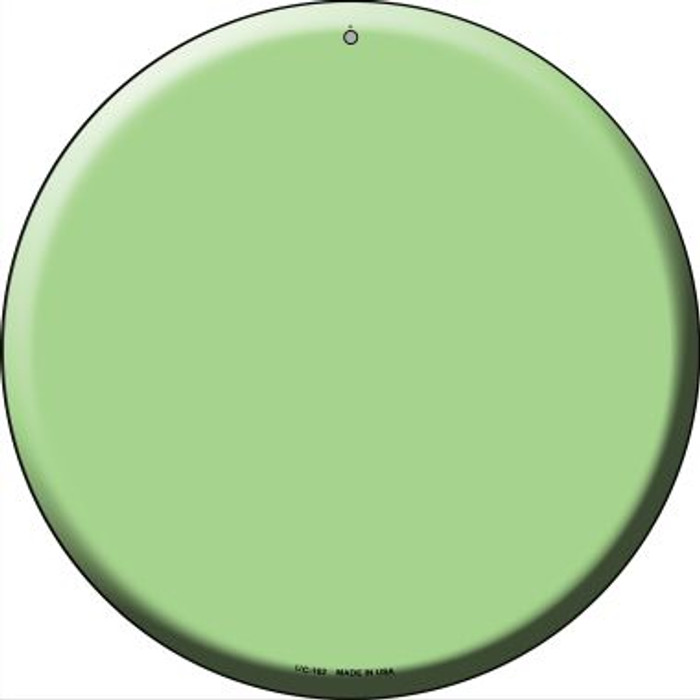 Lime Green Wholesale Novelty Small Metal Circular Sign UC-162