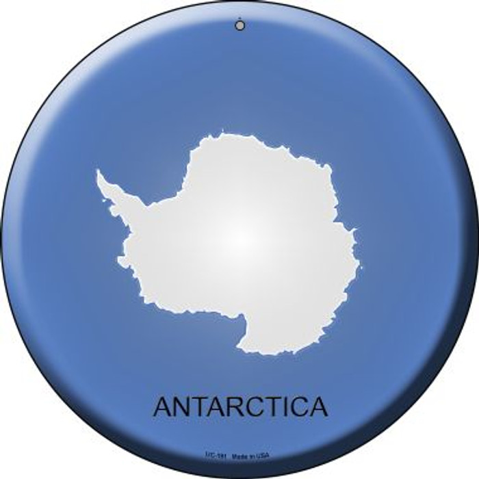 Antarctica Country Wholesale Novelty Small Metal Circular Sign UC-191