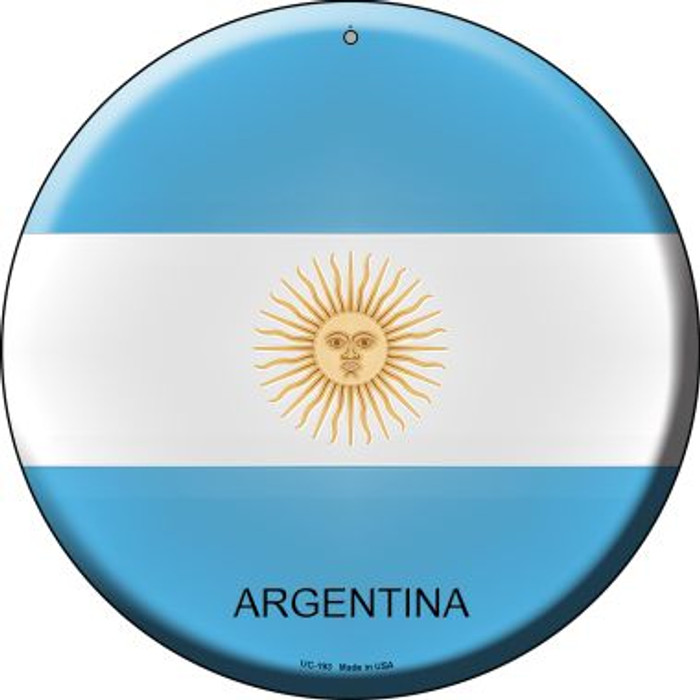 Argentina Wholesale Novelty Small Metal Circular Sign UC-193