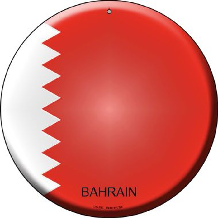Bahrain Country Wholesale Novelty Small Metal Circular Sign UC-200