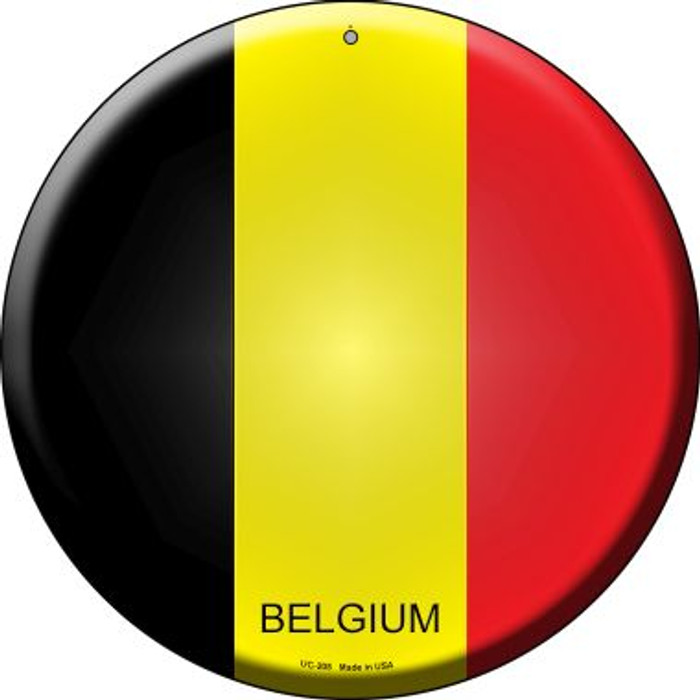 Belgium Country Wholesale Novelty Small Metal Circular Sign UC-205