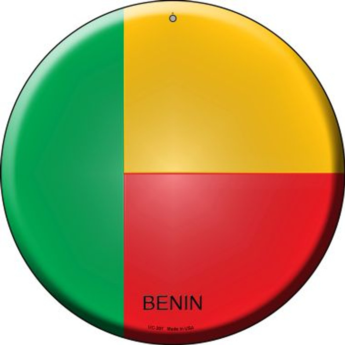 Benin Country Wholesale Novelty Small Metal Circular Sign UC-207