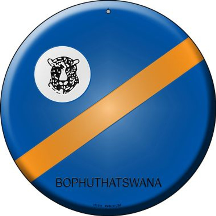 Bophuthatswana Country Wholesale Novelty Small Metal Circular Sign UC-211