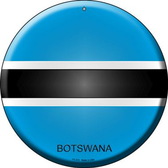 Botswana Country Wholesale Novelty Small Metal Circular Sign UC-213
