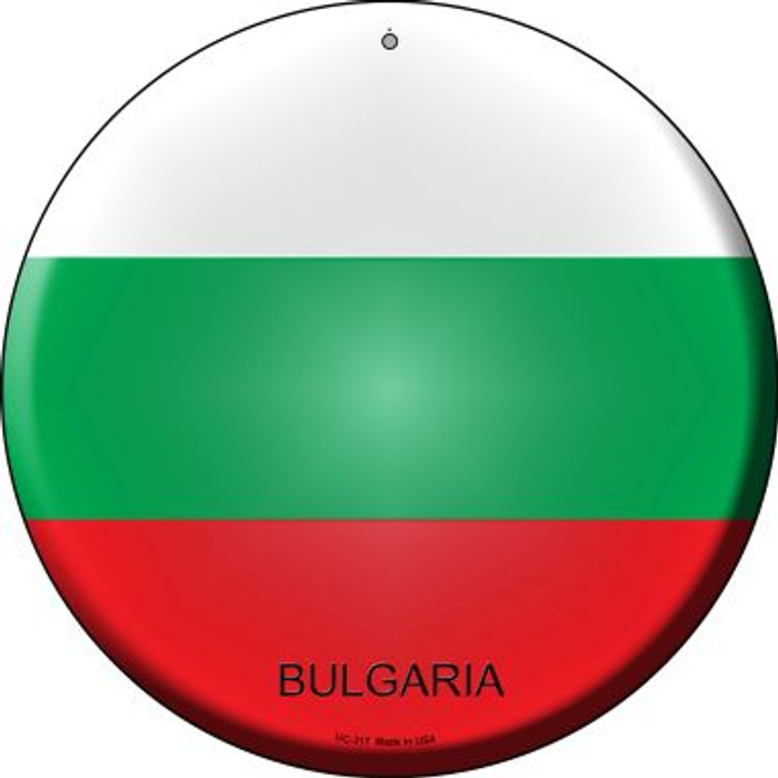 Bulgaria Country Wholesale Novelty Small Metal Circular Sign UC-217