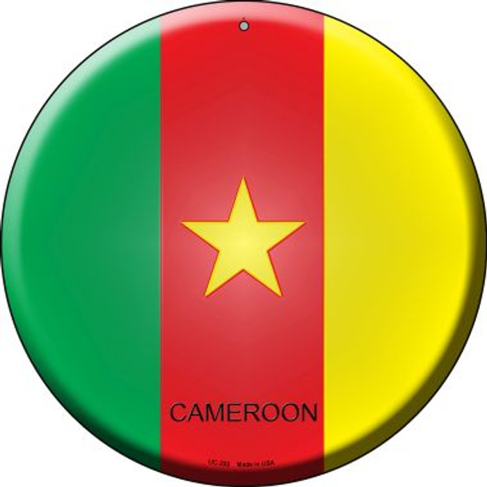 Cameroon Country Wholesale Novelty Small Metal Circular Sign UC-222
