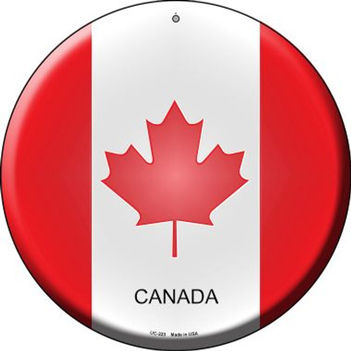Canada Country Wholesale Novelty Small Metal Circular Sign UC-223