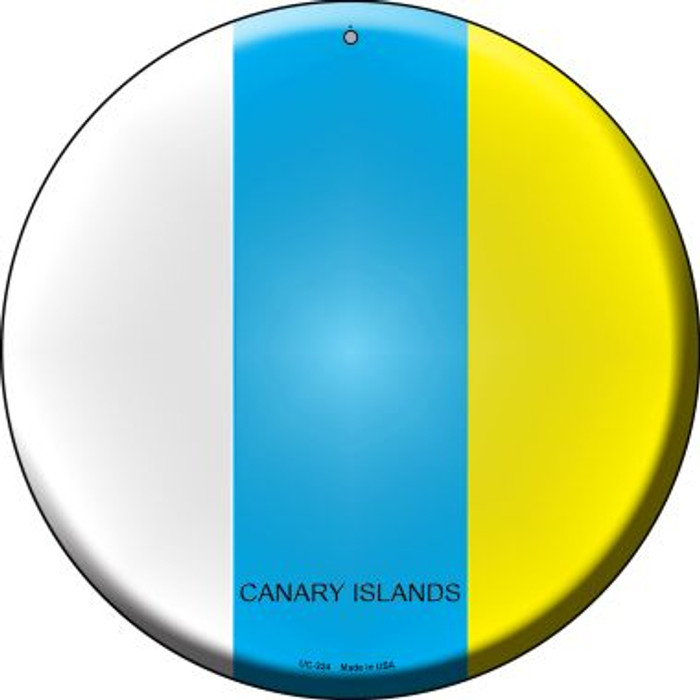 Canari Islands Country Wholesale Novelty Small Metal Circular Sign UC-224