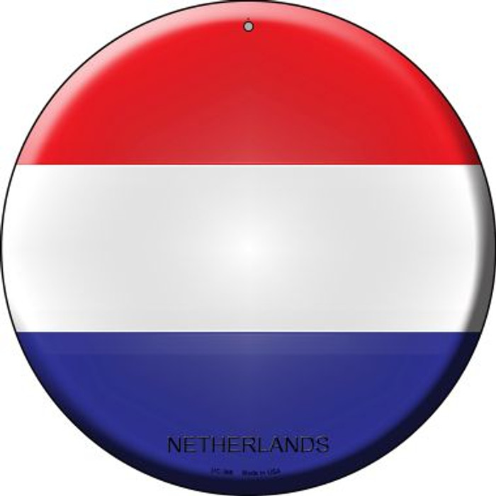 Netherlands Country Wholesale Novelty Small Metal Circular Sign UC-366