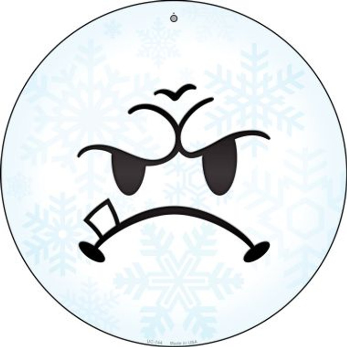 Mean Face Snowflake Wholesale Novelty Small Metal Circular Sign UC-744
