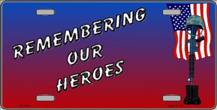 Remembering Our Heroes Novelty Wholesale Metal License Plate