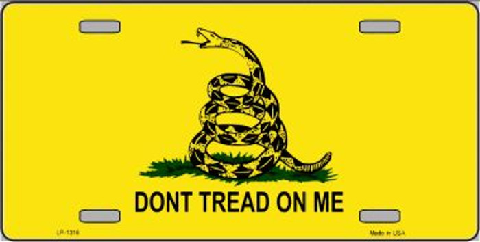 Don't Tread On Me Novelty Wholesale Metal License Plate
