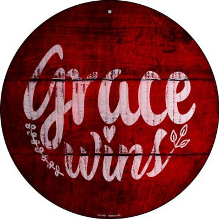 Grace Wins Wholesale Novelty Small Metal Circular Sign UC-1003