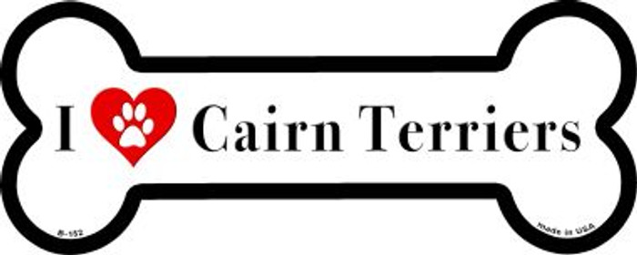 I Love Cairn terrieres Wholesale Novelty Metal Bone Magnet B-152