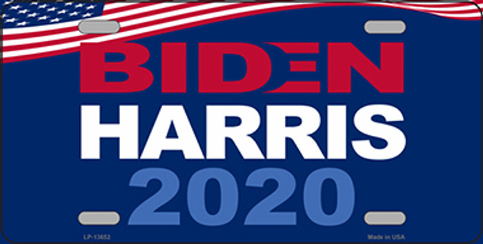Biden Harris 2020 Wholesale Novelty Metal License Plate Tag LP-13652