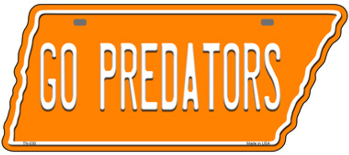 Go Predators Wholesale Novelty Metal Tennessee License Plate Tag TN-030