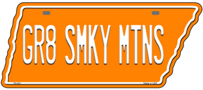 Gr8 Smky Mtns Wholesale Novelty Metal Tennessee License Plate Tag TN-041