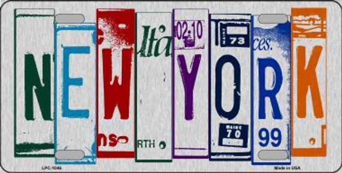 New York License Plate Art Brushed Aluminum Wholesale Metal Novelty License Plate