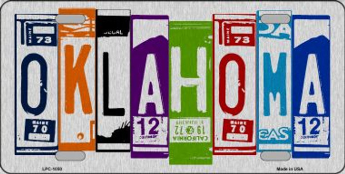 Oklahoma License Plate Art Brushed Aluminum Wholesale Metal Novelty License Plate