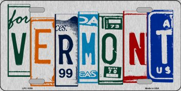 Vermont License Plate Art Brushed Aluminum Wholesale Metal Novelty License Plate LPC-1059