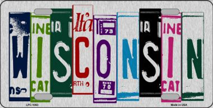 Wisconsin License Plate Art Brushed Aluminum Wholesale Metal Novelty License Plate LPC-1063