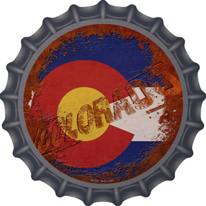 Colorado Rusty Stamped Wholesale Novelty Metal Bottle Cap BC-1171