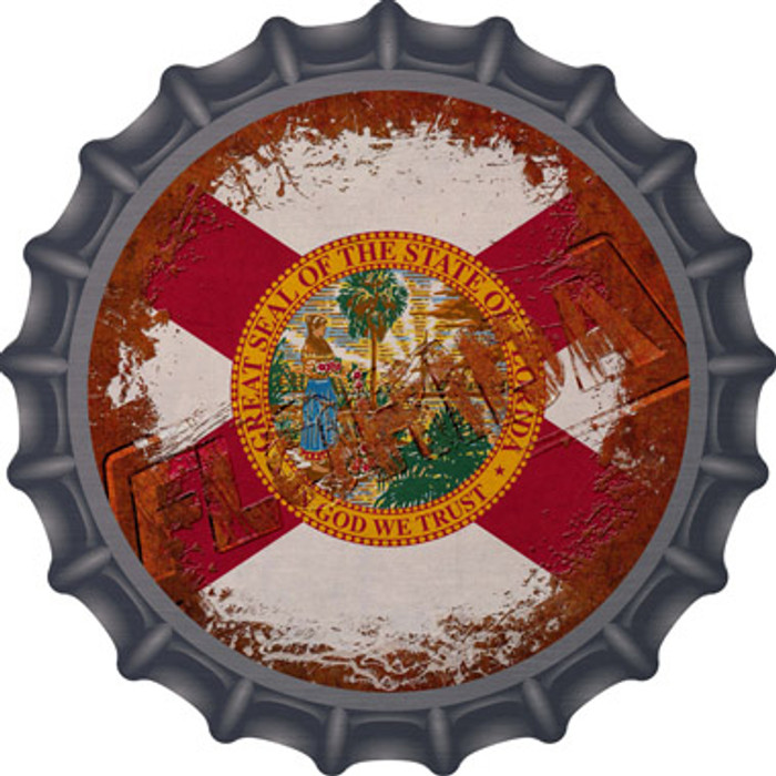 Florida Rusty Stamped Wholesale Novelty Metal Bottle Cap BC-1174