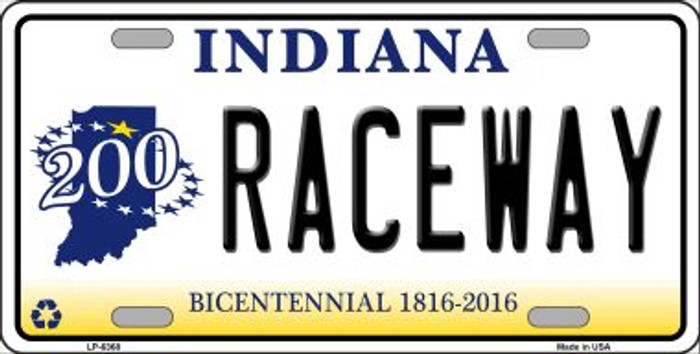 Raceway Indiana Novelty Wholesale Metal License Plate