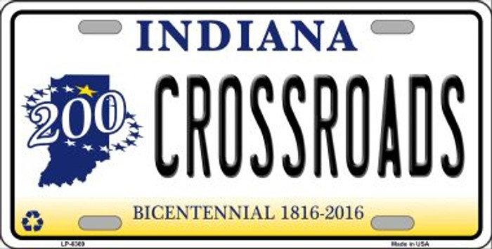 Crossroads Indiana Novelty Wholesale Metal License Plate