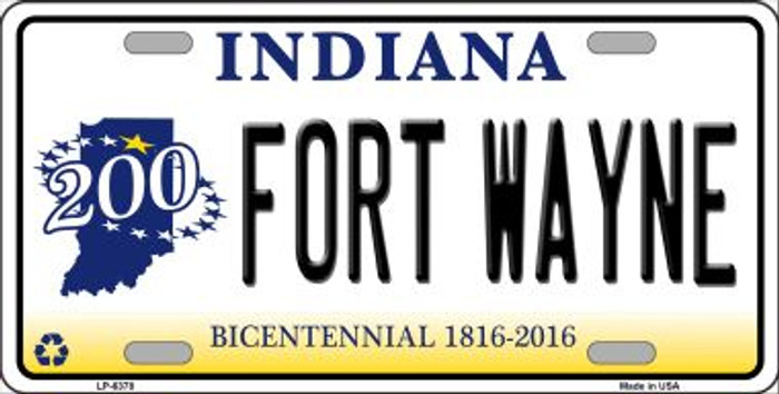 Fort Wayne Indiana Novelty Wholesale Metal License Plate