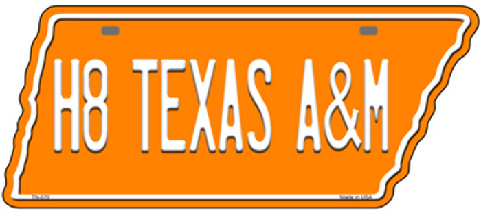 H8 Texas A&M Wholesale Novelty Metal Tennessee License Plate Tag TN-070