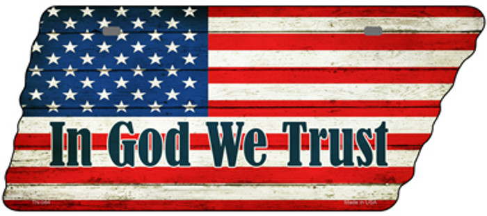 In God We Trust American Flag Wholesale Novelty Metal Tennessee License Plate Tag TN-084