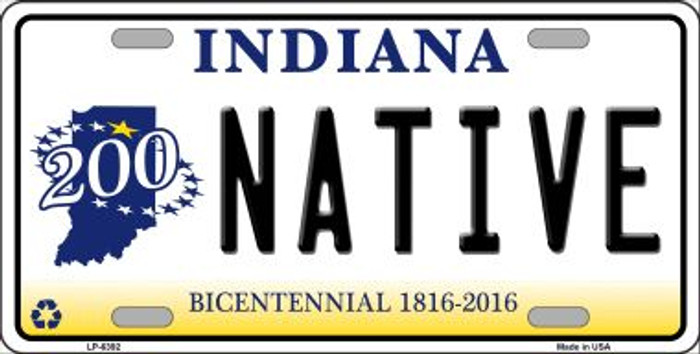 Native Indiana Novelty Wholesale Metal License Plate