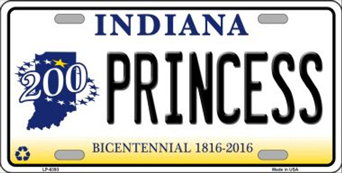 Princess Indiana Novelty Wholesale Metal License Plate LP-6393