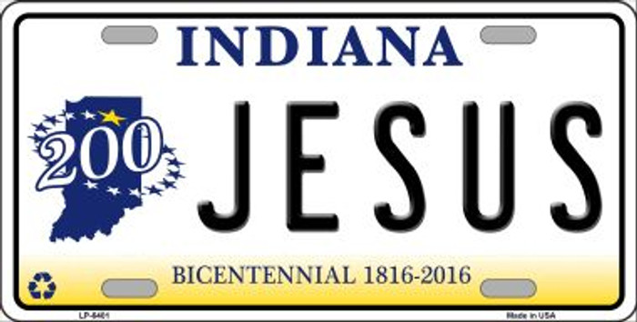 Jesus Indiana Novelty Wholesale Metal License Plate