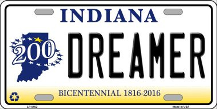 Dreamer Indiana Novelty Wholesale Metal License Plate